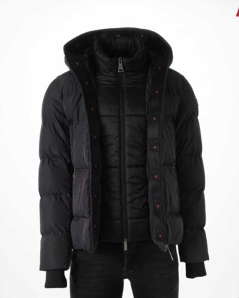 Grey Hooded Down Jacket - grijze winterjas AB Lifestyle