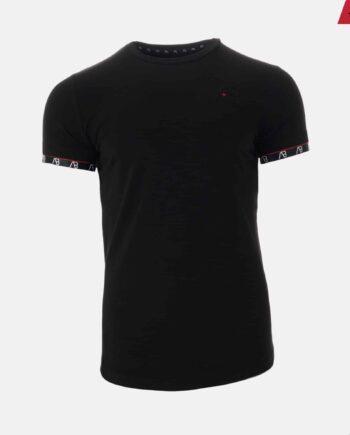 Black Flag Tee - zwart shirt AB Lifestyle met logo op borst en rondom mouwen