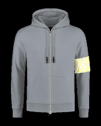 Grey Captain Vest Malelions - grijs met gele band om de mouw heen