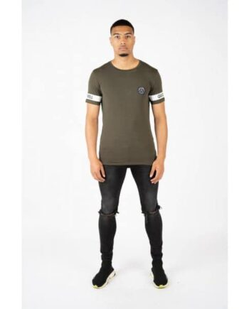 Army Green Sergeant Tee Quotrell - legergroen shirt