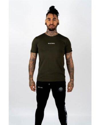 Army Green Wing T-shirt 2.0 Quotrell - legergroen shirt met logo voor en achter