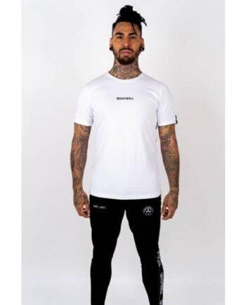 White Wing T-shirt 2.0 Quotrell - wit shirt met logo op voor en achterkant