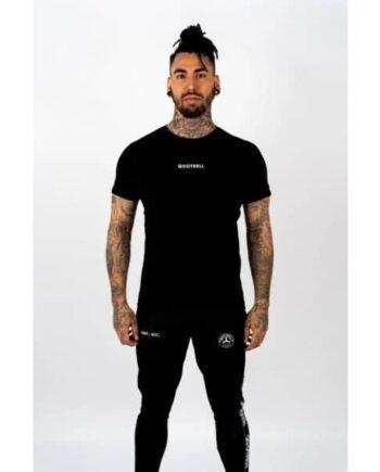 Black Wing T-shirt 2.0 Quotrell- zwart shit met logo op borst en groot op de rug