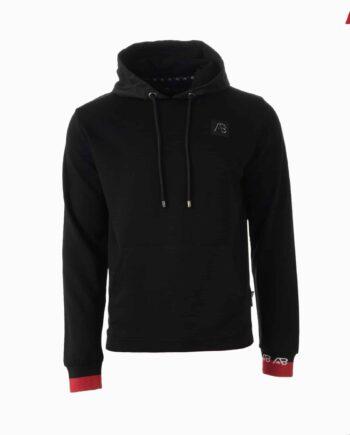 Black Flag Hoodie AB Lifestyle - zwarte hoodie met rode afwerking
