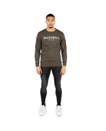 Marshall Sweater Army Green Quotrell - legergroene trui