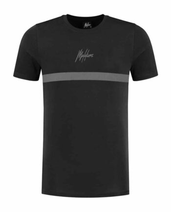 Zwarte Malelions Tonny T-Shirt 2.0 - black/black